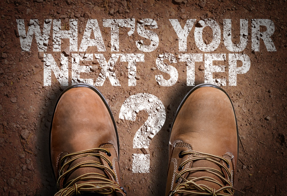 Top View of Boot on the trail with the text Whats Your Next Step?.jpeg