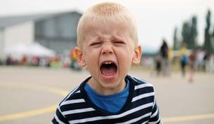 yelling angry boy