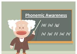 Teacher in phonemic awareness lesson